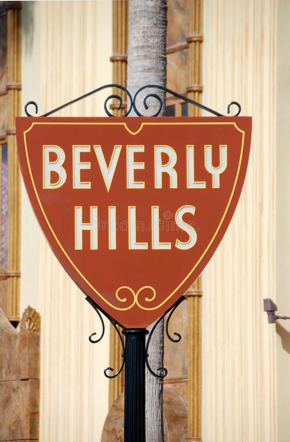 Muestra agradable a Beverly Hills foto de archivo libre de regalías