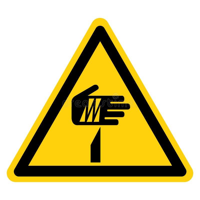 Muestra aguda del símbolo del punto, ejemplo del vector, aislante en la etiqueta blanca del fondo EPS10 stock de ilustración