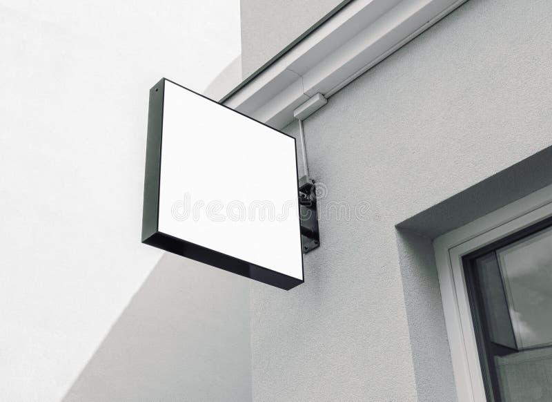 Muestra al aire libre blanco y negro en blanco de la compañía foto de archivo libre de regalías