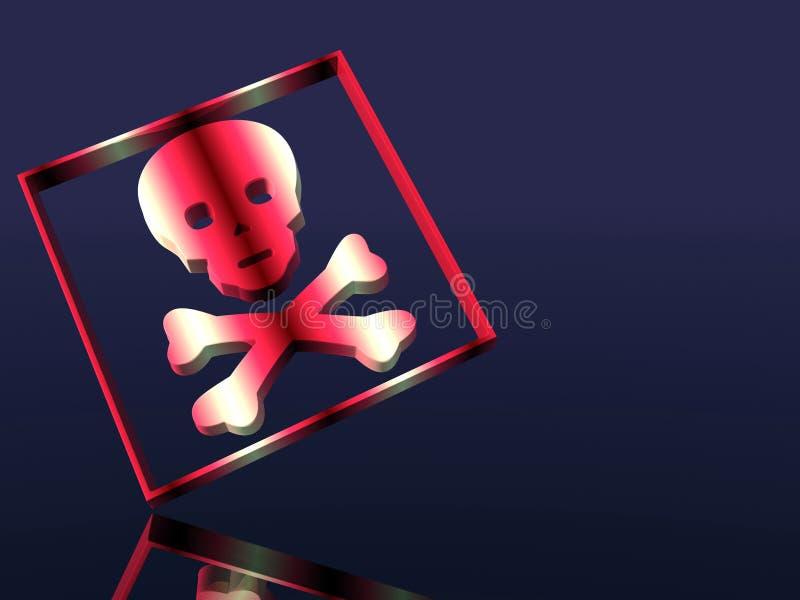 Muestra alerta, tóxico, veneno. stock de ilustración