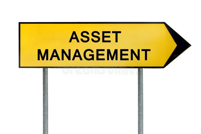 Muestra amarilla de la gestión de activos del concepto de la calle stock de ilustración