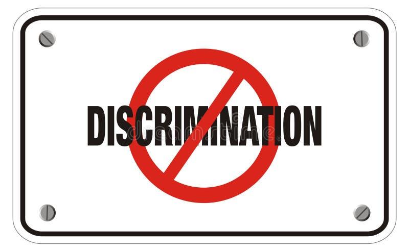 Muestra anti del rectángulo de la discriminación fotografía de archivo libre de regalías