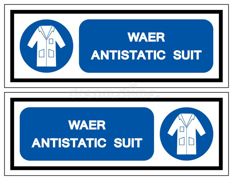 Muestra antiest?tica del s?mbolo del traje del desgaste, ejemplo del vector, aislante en la etiqueta blanca del fondo EPS10 ilustración del vector