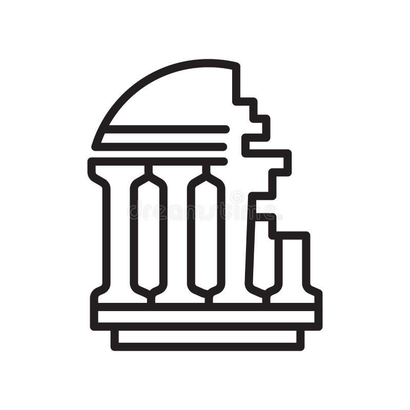 Muestra antigua y símbolo del vector del icono aislados en el fondo blanco libre illustration