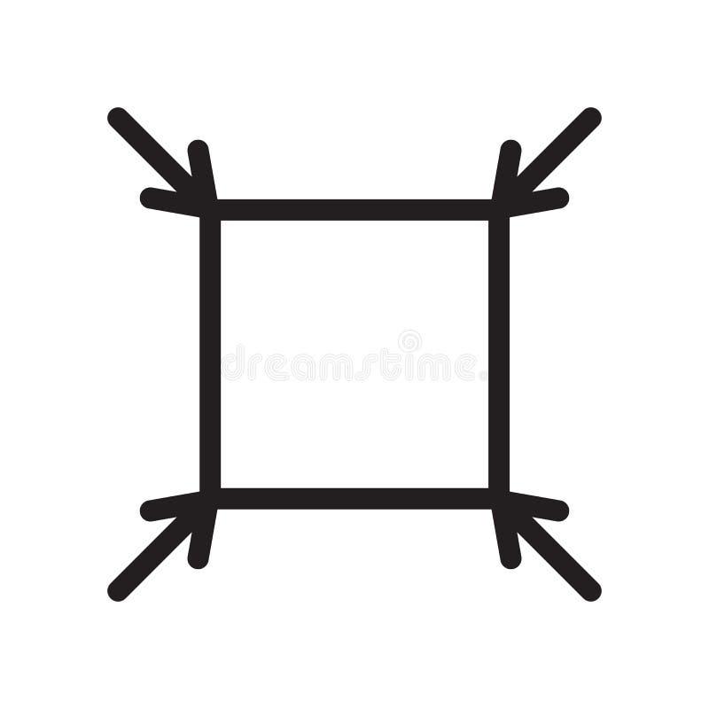Muestra apta y símbolo del vector del icono aislados en el fondo blanco, Fi ilustración del vector