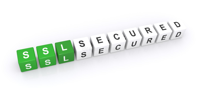 Muestra asegurada SSL fotografía de archivo