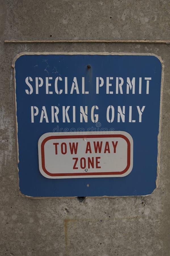 Muestra azul del estacionamiento imágenes de archivo libres de regalías