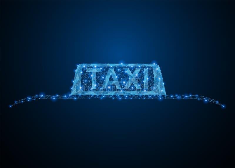 Muestra azul del tejado del coche del taxi ilustración del vector