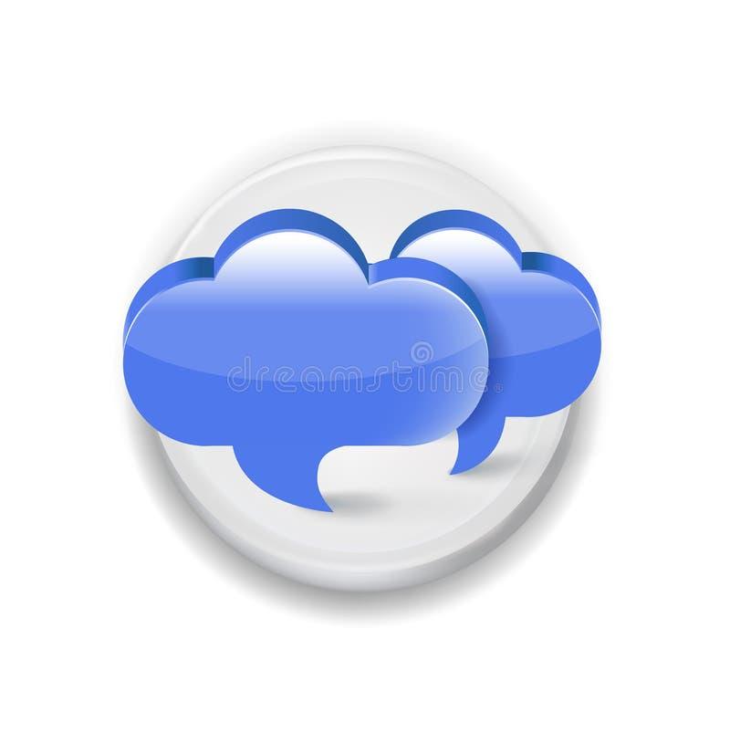 Download Muestra Blanca Del Uso De La Burbuja De La Comunicación De Discurso Dos Aislada Ilustración del Vector - Ilustración de elemento, tarjeta: 42439528