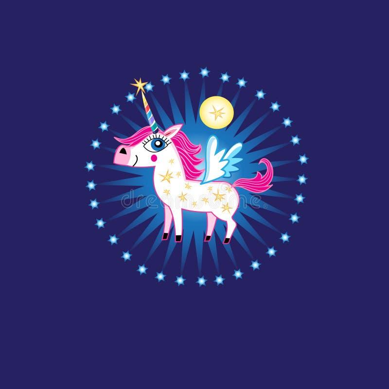 Muestra brillante del vector de un unicornio fabuloso stock de ilustración