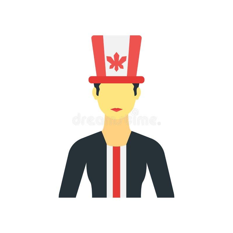 Muestra canadiense y símbolo del vector del icono aislados en el fondo blanco, concepto canadiense del logotipo libre illustration