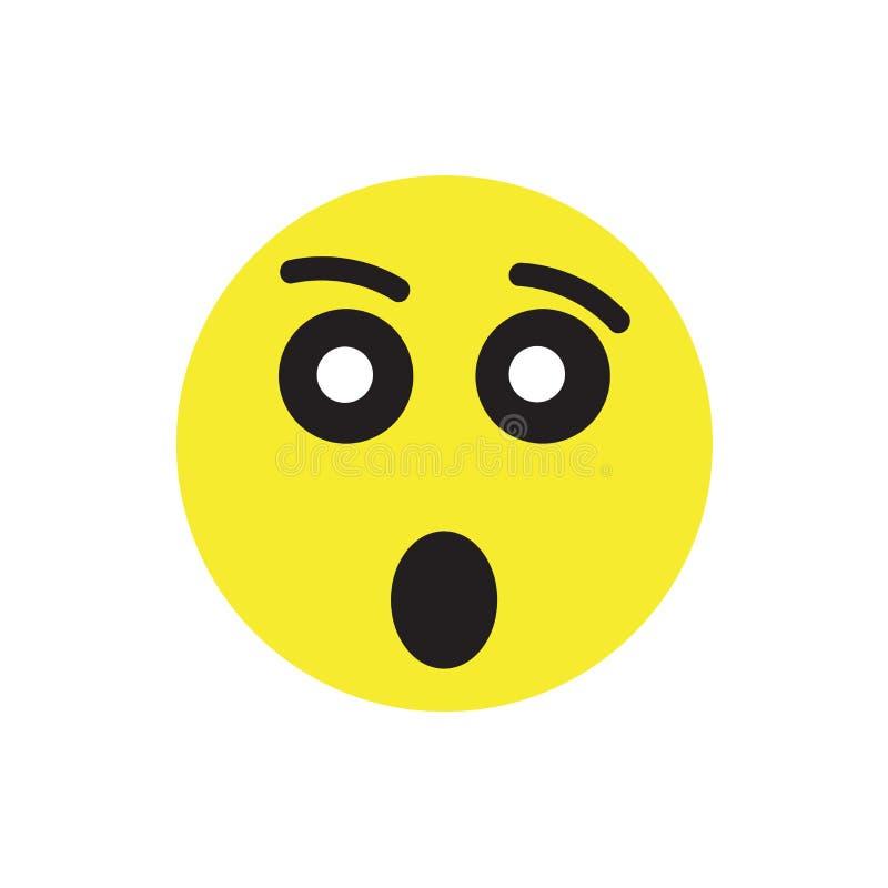 Muestra cansada y símbolo del vector del icono aislados en el fondo blanco ilustración del vector