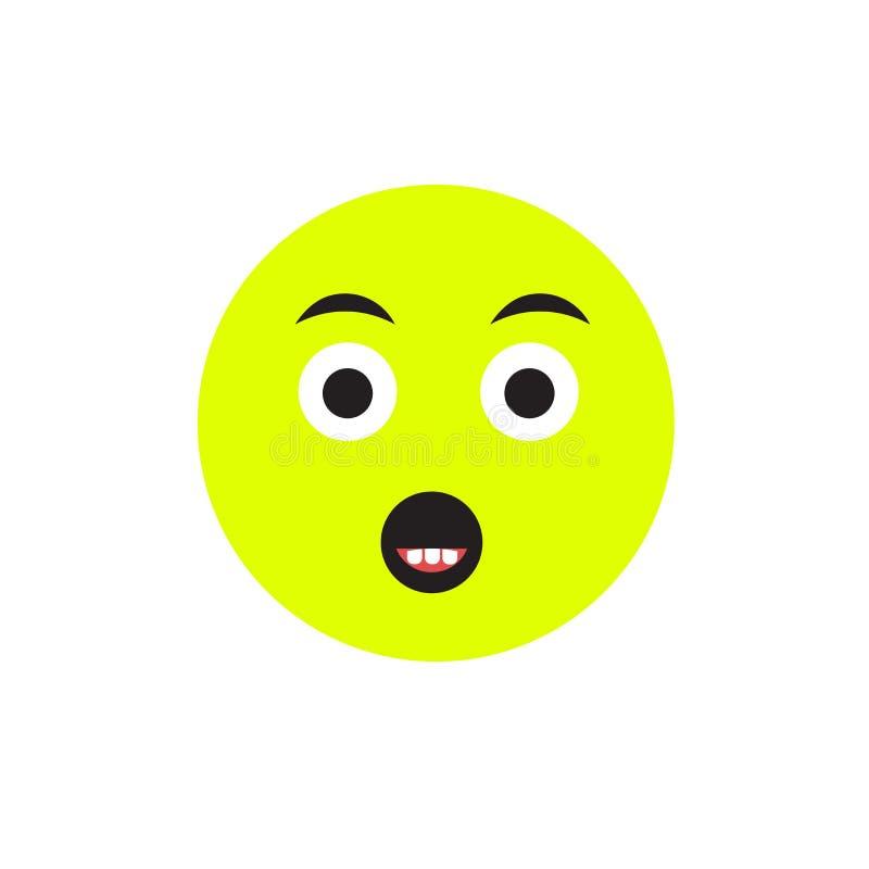 Muestra cansada y símbolo del vector del icono aislados en el fondo blanco, concepto cansado del logotipo libre illustration