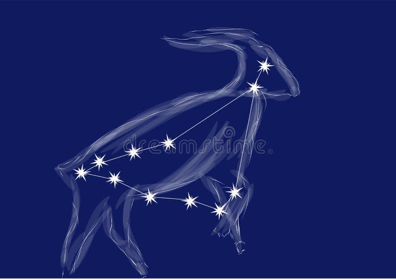 Muestra-Capricornio del zodiaco libre illustration