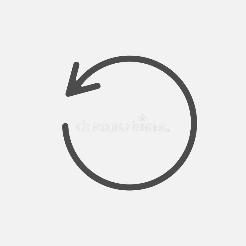 Muestra cargada de la recarga del icono aislada en el fondo blanco Ilustraci?n del vector libre illustration