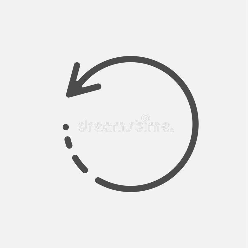 Muestra cargada de la recarga del icono aislada en el fondo blanco Ilustraci?n del vector ilustración del vector