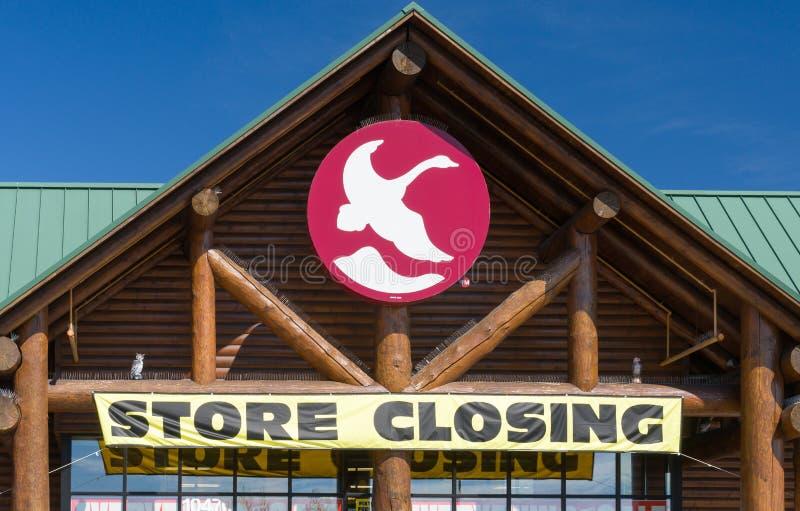 Muestra cerrada de la tienda de la montaña del ganso fotos de archivo