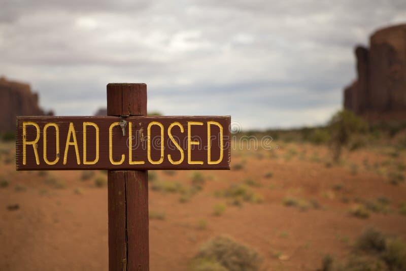Muestra cerrada del camino imagen de archivo libre de regalías