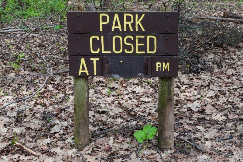 Muestra cerrada del parque fotografía de archivo libre de regalías