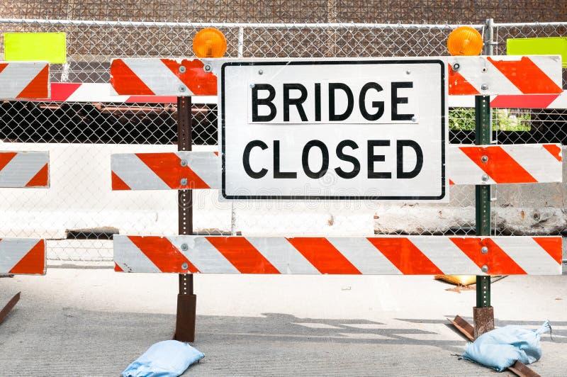 Muestra cerrada del puente imagen de archivo
