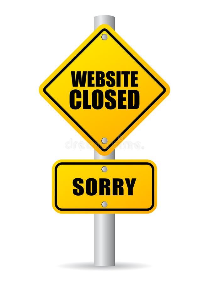 Muestra cerrada del sitio web stock de ilustración