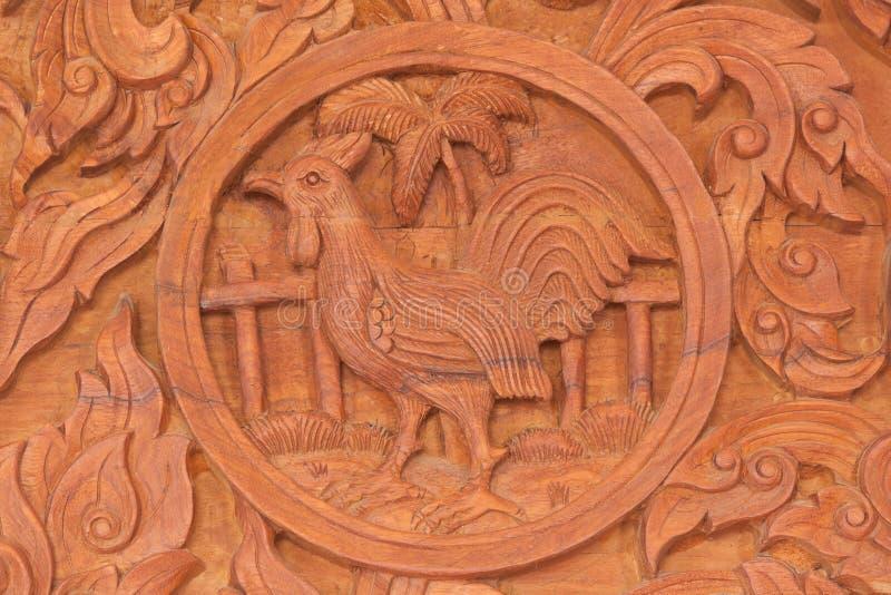 Muestra china del animal del zodiaco del gallo foto de archivo