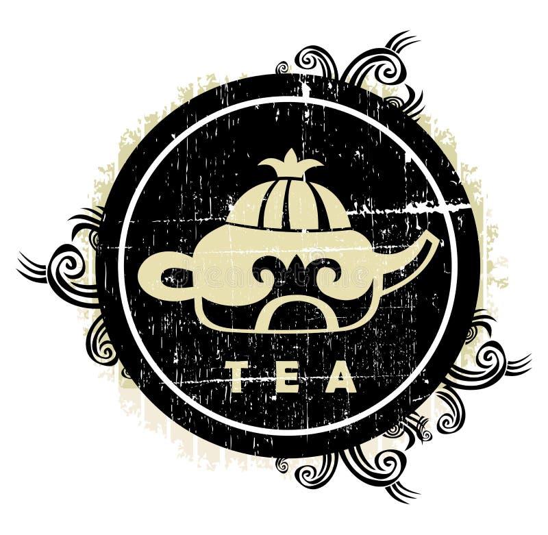 Muestra china del té stock de ilustración
