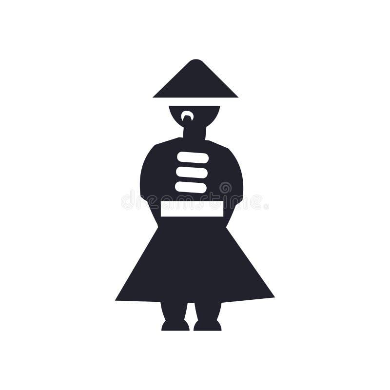 Muestra china y símbolo del vector del icono del hombre aislados en el backgr blanco ilustración del vector