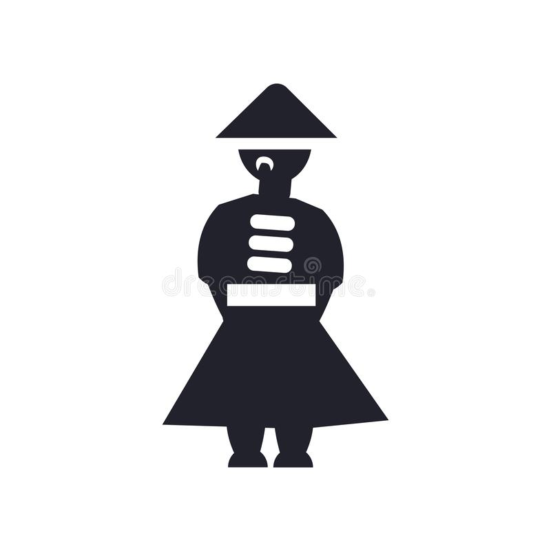 Muestra china y símbolo del vector del icono del hombre aislados en el fondo blanco, concepto chino del logotipo del hombre ilustración del vector