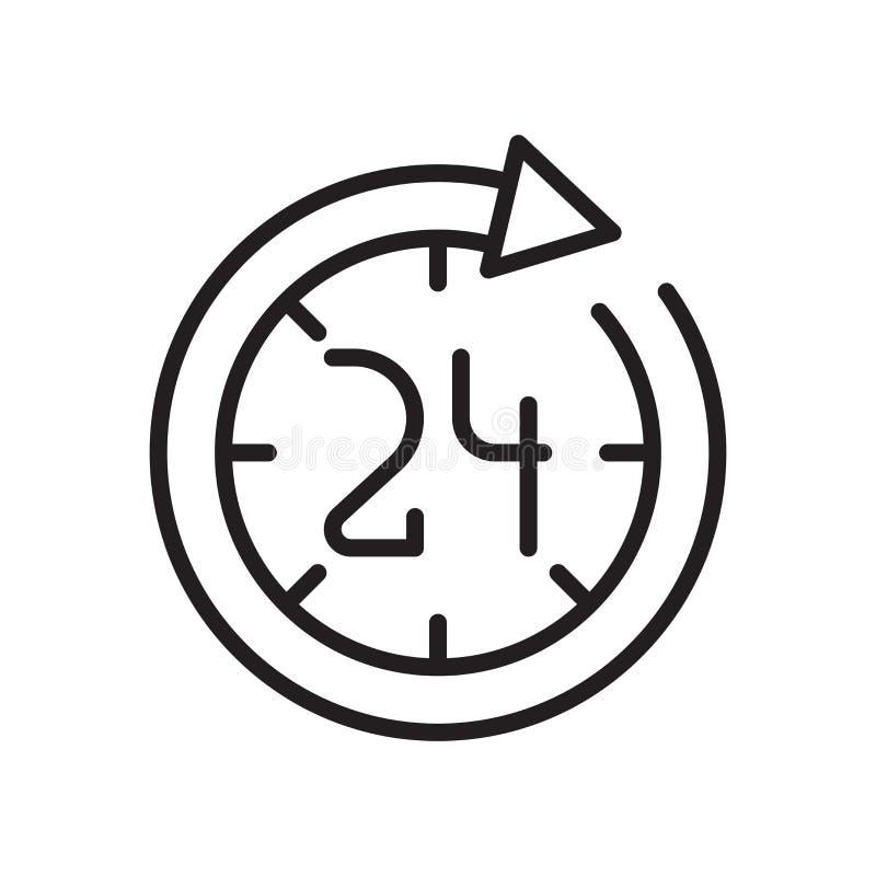 Muestra circular y símbolo del vector del icono del reloj de la flecha aislados en el fondo blanco, concepto circular del logotip libre illustration