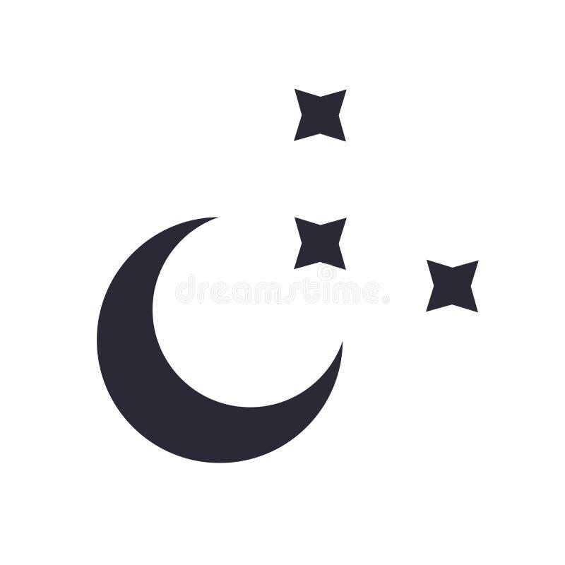 Muestra clara y símbolo del vector del icono de la noche aislados en el fondo blanco, concepto claro del logotipo de la noche libre illustration