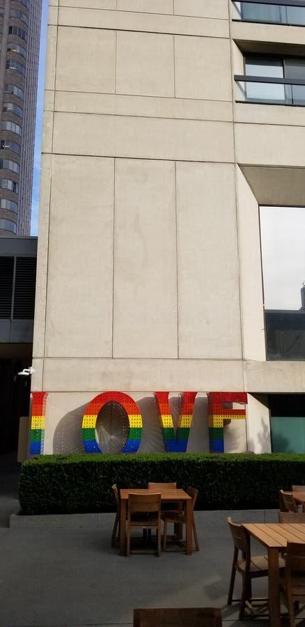 Muestra coloreada arco iris del amor fotos de archivo