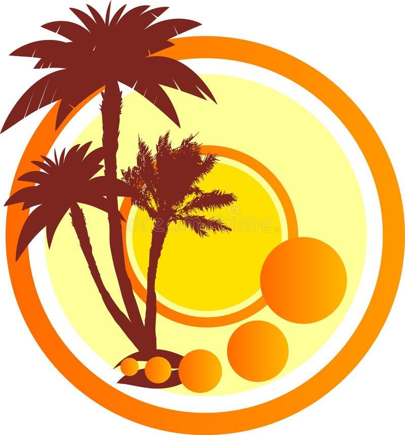 Muestra con las palmeras libre illustration