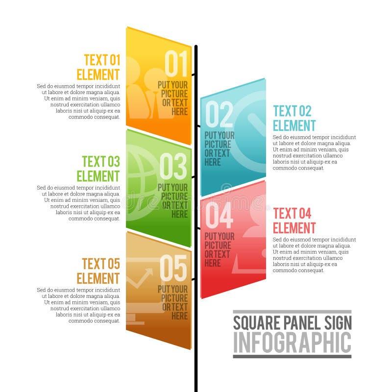 Muestra cuadrada Infographic del panel ilustración del vector