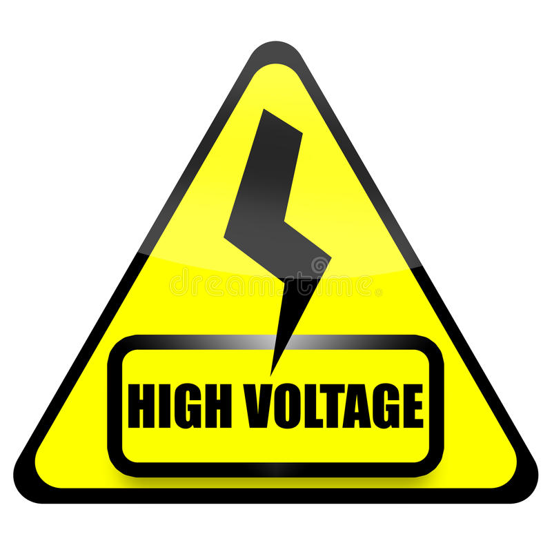 Muestra de alto voltaje ilustración del vector