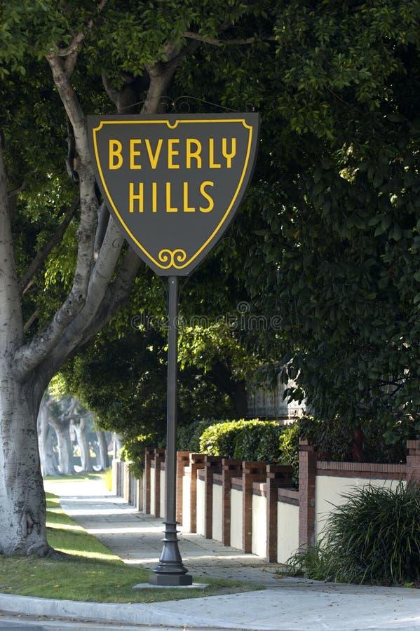 Muestra de Beverly Hills fotografía de archivo libre de regalías