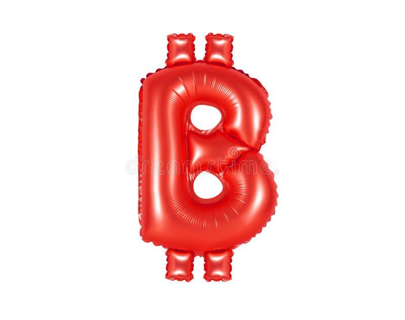 Muestra de Bitcoin, color rojo fotografía de archivo