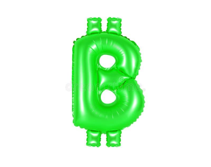 Muestra de Bitcoin, color verde foto de archivo libre de regalías