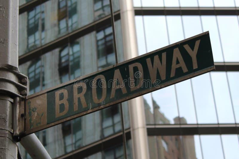 Muestra de Broadway fotografía de archivo libre de regalías