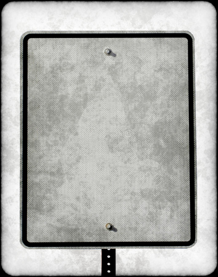 Muestra de calle en blanco sucia foto de archivo
