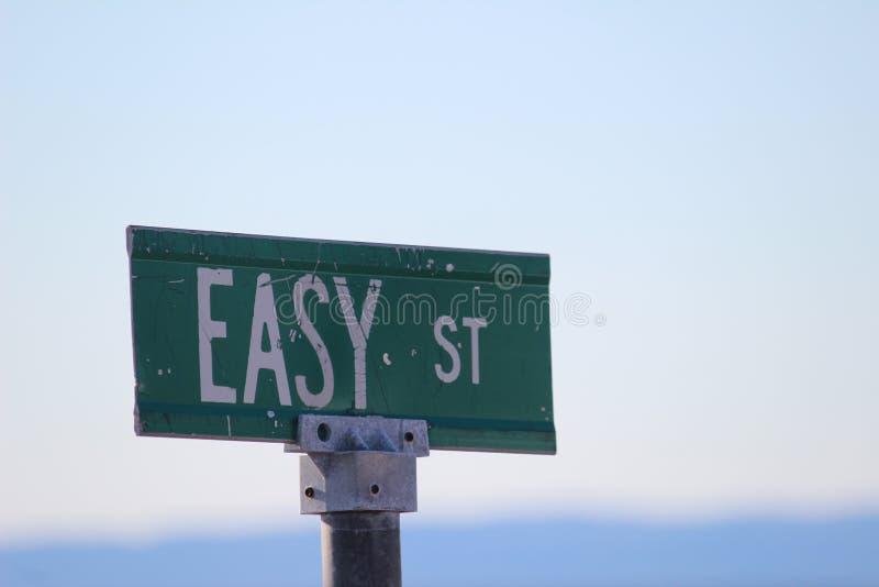 Muestra de calle fácil foto de archivo libre de regalías