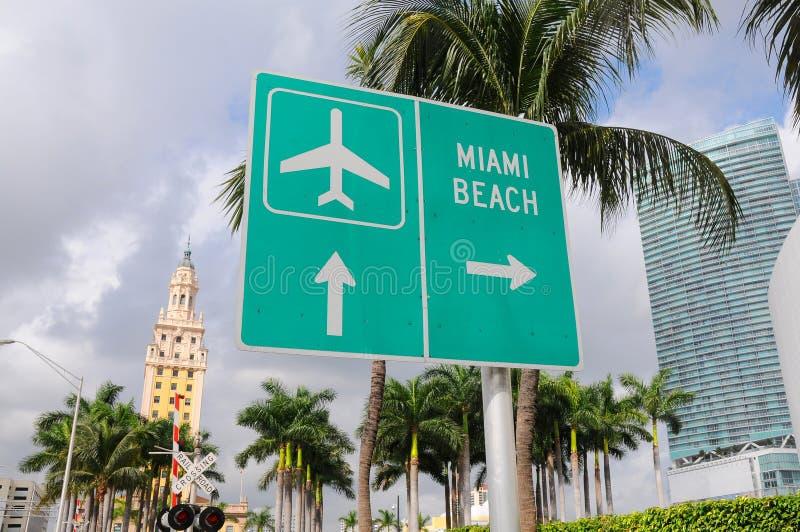 Muestra de calle Miami Beach fotos de archivo libres de regalías
