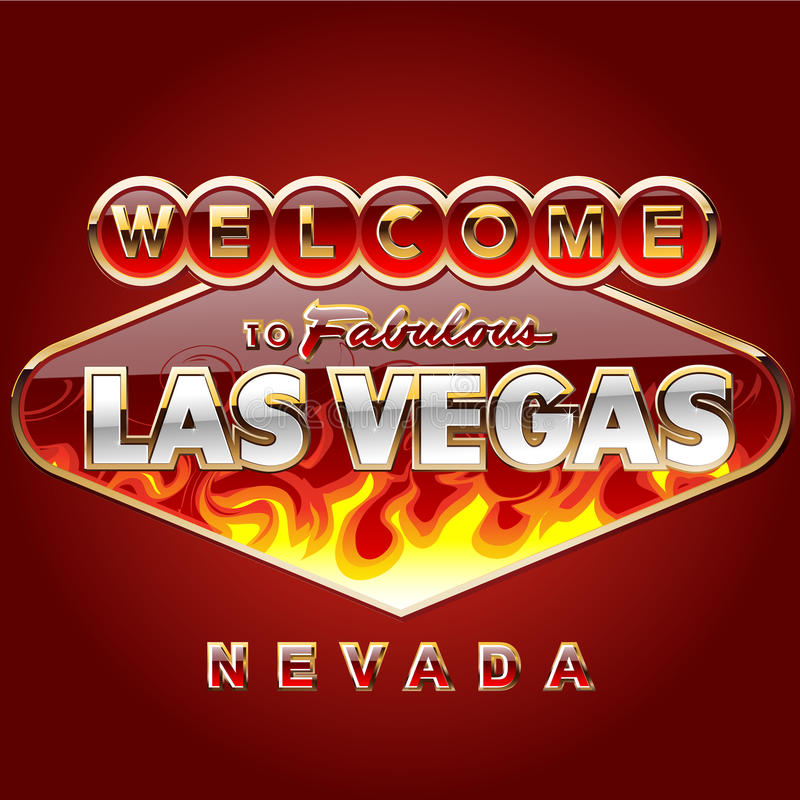 Muestra de camino ardiendo de Las Vegas libre illustration