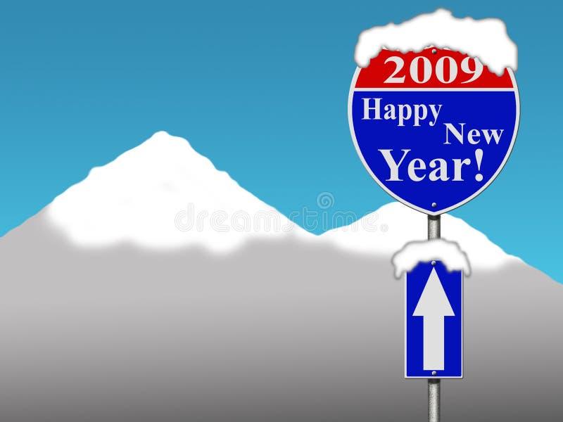 Muestra de camino de la Feliz Año Nuevo imagen de archivo