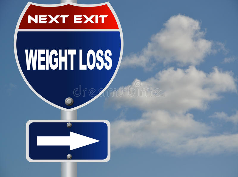 Muestra de camino de la pérdida de peso libre illustration