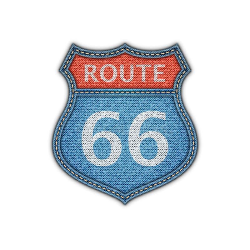 Muestra de camino de la ruta 66 libre illustration