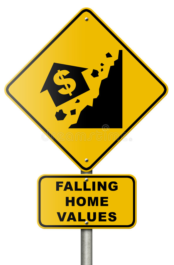 Muestra de camino del descenso del mercado inmobiliario libre illustration