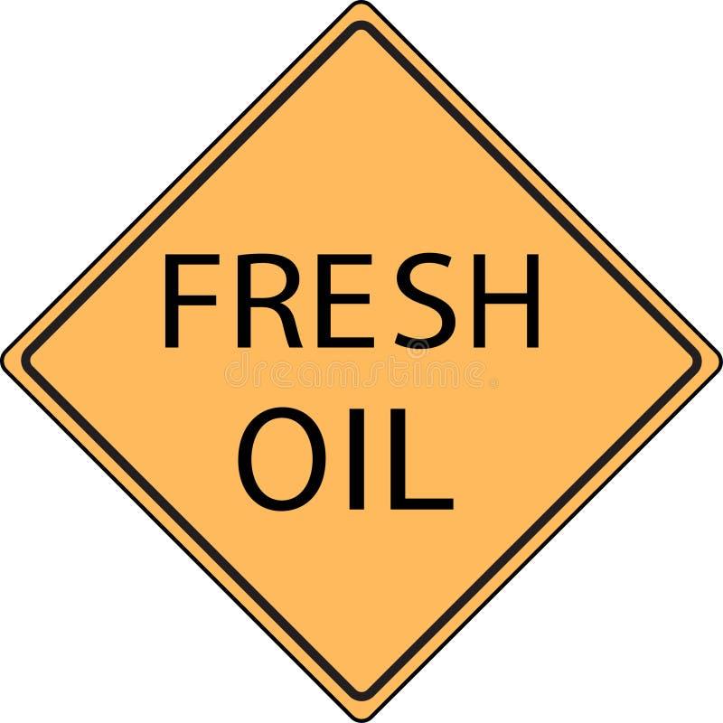 Muestra de camino fresca anaranjada del petróleo fotos de archivo