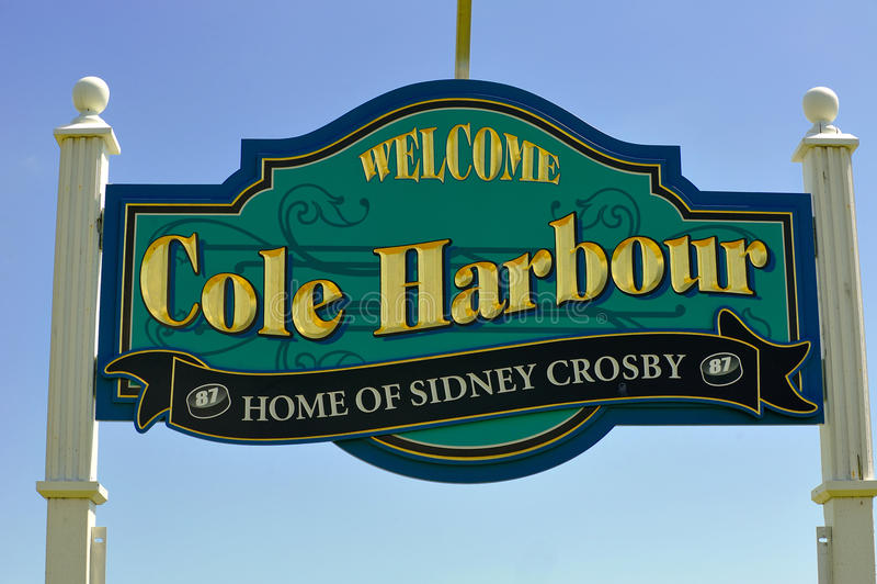 Muestra de Cole Harbour orgullosa de Crosby imágenes de archivo libres de regalías