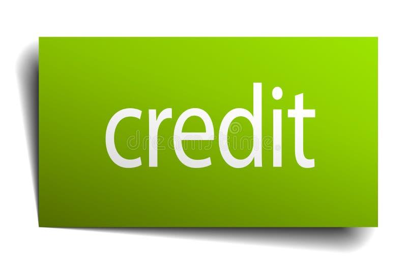 Muestra de crédito ilustración del vector
